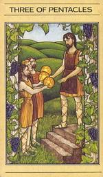 שלושה מטבעות בסדרת הקלפים של ליז גרין