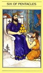 שישה מטבעות בסדרת הקלפים של ליז גרין
