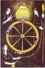קלף גלגל המזל בגרסת הקלפים של ליז גרין
