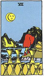 הקלף שמונה גביעים אומר לשואלת לשחרר, to let go