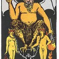 קלף טארוט השטן מתוך חפיסת הקלפים ריידר