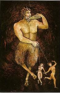 האל פאן הוא השטן בקלפי הטארוט של ליז גרין