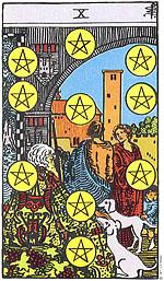 האם תמיד קלף טארוט עשרה מטבעות מייצג שפע, אושר ועושר?