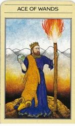 אס המטות בחפיסת הקלפים של ליז גרין