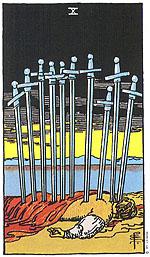 קלף טארוט עשר חרבות