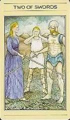 שתי חרבות בסדרת הקלפים של ליז גרין