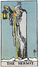 קלף הנזיר בקלף טארוט. סבלנות היא המפתח להבנת האמת