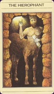 קלף הכוהן הגדול מתוך חפיסת הקלפים של ליז גרין