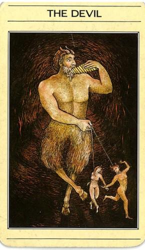 קלף השטן בחפיסת הקלפים של ליז גרין
