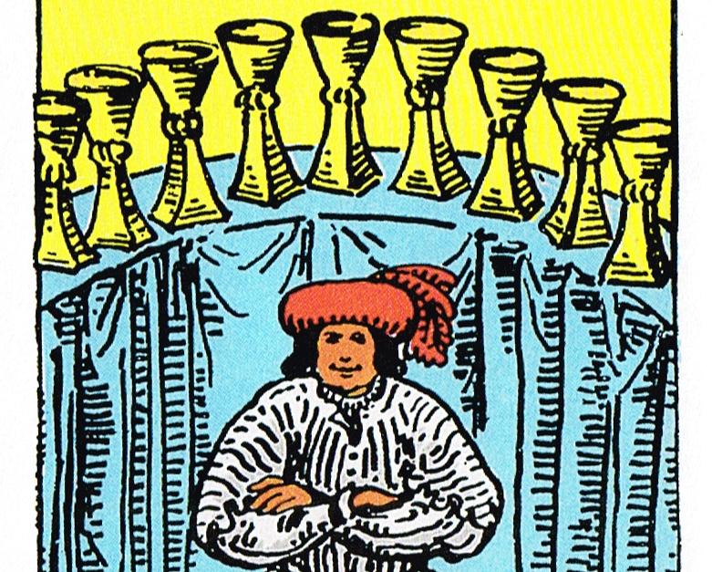 קלף תשעה גביעים